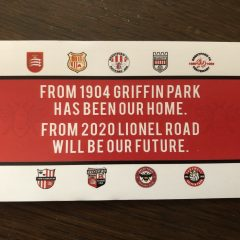 GRIFFIN PARK TO LIONEL ROAD STICKER
