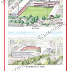 Griffin Park + Community Stadium Poster A4