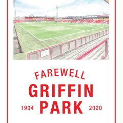 Poster – Griffin Park Ealing Road View – Farewell