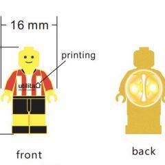 Lego pin badge