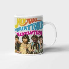Mug – Hey Jude, The Brentford Revolution. Canos, Jansson, Toney and Nørgaard.